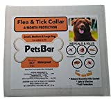 NEW PetsBar Natural Flea & Tick Dog Collar | 6- Month Protection | Fits All Sizes| Water Resistant, Mosquito Repellant| 100% Safe & Effective | Essential Natural Oils to Fight Away Insects