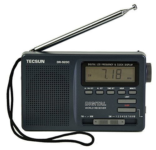 TECSUN DR-920C Digital FM/MW/SW World Band Radio ( Black Color) by Tecsun