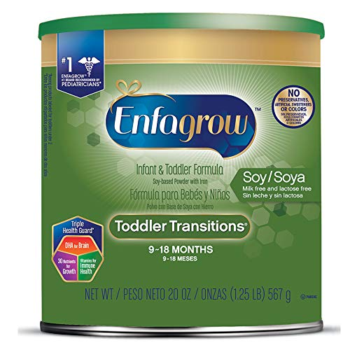 - Enfagrow Toddler Transitions Soy  Powder Can, for Toddlers 9-18 Months, 24-Ounce Powder
