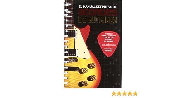 MANUAL DEFINITIVO DE ACORDES DE GUITARRA, EL: Amazon.es: Vv Aa: Libros