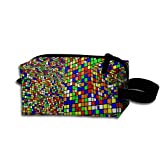 time machine rubik - Makeup Cosmetic Bag Rubik's Cube World Medicine Bag Zip Travel Portable Storage Pouch For Mens Womens
