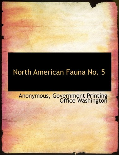 Download North American Fauna No. 5 pdf