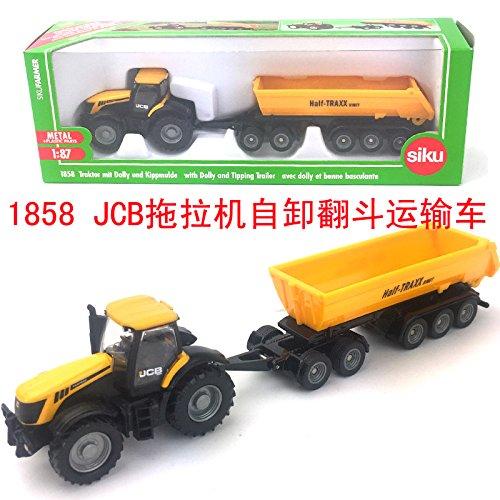 SIKU 1858 JCB Traktor mit Dolly 1:87 Traktoren SIKU Landmaschinen JCB Fahrzeuge