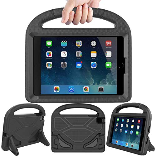 LEDNICEKER Kids Case for iPad Mini 1 2 3 4 5 - Light Weight Shock Proof Handle Friendly Convertible Stand Kids Case for iPad Mini, Mini 5, Mini 4,iPad Mini 3rd Generation, Mini 2 Tablet - Black