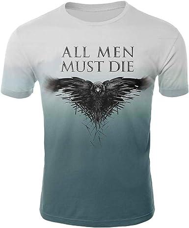 Camisetas,Camiseta Hombre De Game of Thrones,2XL,Azul: Amazon.es: Ropa y accesorios