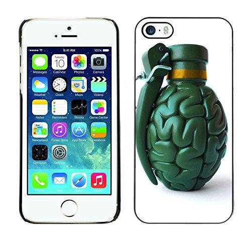 Premio Sottile Slim Cassa Custodia Case Cover Shell // F00006565 cerveau grenade // Apple iPhone 5 5S 5G
