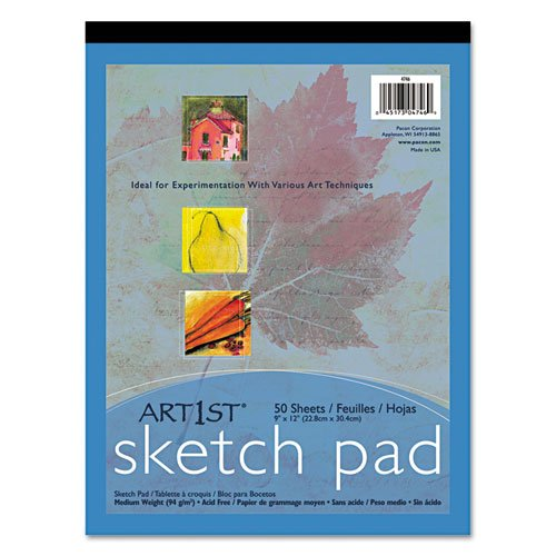 Pacon 4747 Art1st Sketch Pad, 12'' x 18'', 50 White Sheets/Pad by Pacon