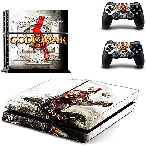 Playstation 4 + 2 Controller Design Sticker Protector Set - God of War (3) /PS4 by THTB: Amazon.es: Videojuegos