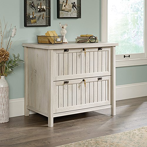 Sauder Costa Lateral File in Chalked Chestnut - Lateral Wood File