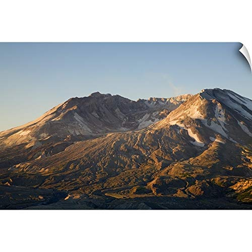 CANVAS ON DEMAND Jamie and Judy Wild Wall Peel Wall Art Print Entitled Mt. St. Helens Crater with Lava Dome, View from Johnston Ridge 18