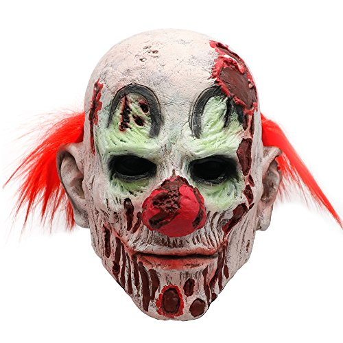 baellerry Halloween Scary Evil Clown Mask with Red
