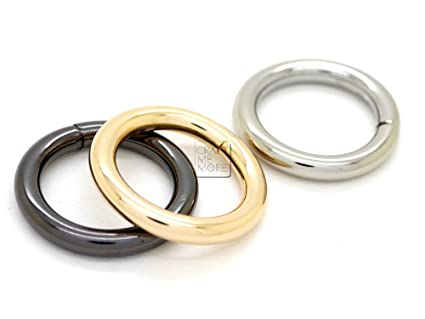 CRAFTMEmore Non-Welded O Ring Quality Finish Metal O Rings for Bags Belts Leathercraft Available 4 Sizes Pack of 10 (1 Inch, Gunmetal)