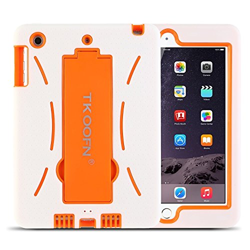 TKOOFN Shockproof Case With Stand For Apple iPad Mini White - 1