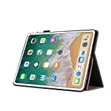 iPad Pro 10.5 Case with Stand,Folio Flip Stand Luxury PU Leather Hand Strap Business Case Auto Sleep/Wake with Apple Pencil Holder Card Slots Smart Cover for iPad Pro 10.5 -Wine Red