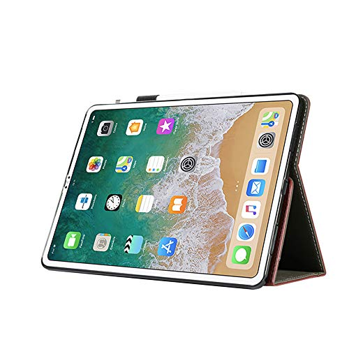 Price comparison product image Jennyfly 2018 9.7 inch New iPad Case,  PU Leather Smart Cover Auto Sleep / Wake Function Build-in Pencil Holder and Card Slots for 9.7 inch iPad Air / Air 2 / Pro 9.7 / 2017 / 2018 New iPad -Wine Red