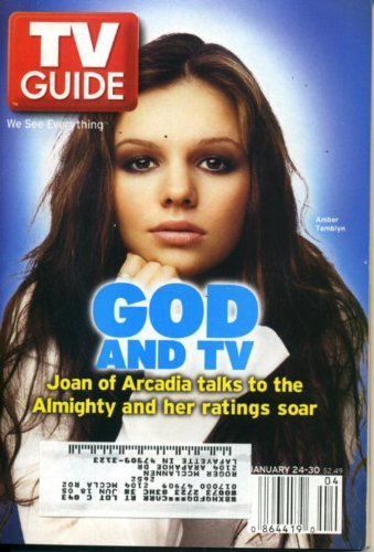 TV Guide January 24, 2004 Amber Tamblyn/Joan of Arcadia, Golden Globes, Average Joe, Rupert Boneham/Survivor, Steve Carell & Stephen Colbert on The Daily Show