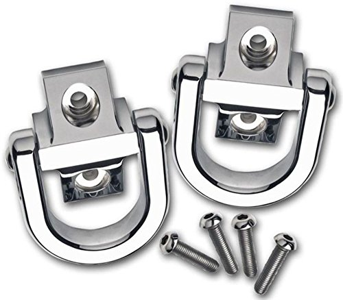 Pirate 03-10 H2 Hummer SUV & SUT w/o Tire Carrier Chrome Billet Tow (Chrome Billet Tow Hooks)