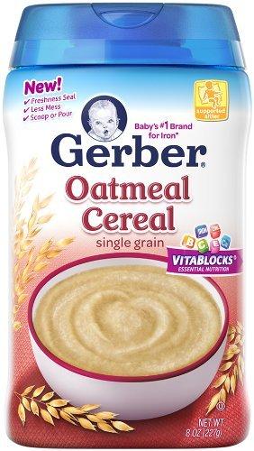 Gerber bebé de cereales, harina de avena, 8 Onza
