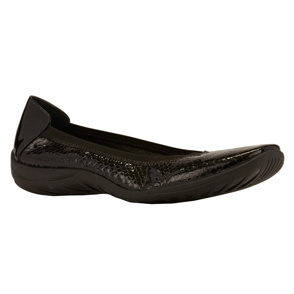 Walking Cradles Women's Alias Flat B01BNDTXC8 6 N (A)|Black Belly Snake Patent/Black Patent