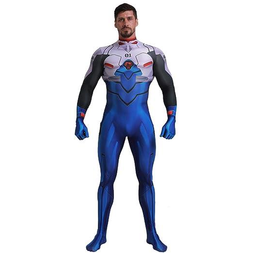 QQWE New World Evangelion Cosplay Traje superhéroe Disfraz ...