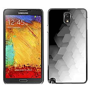 iBinBang / Funda Carcasa Cover Skin Case - Polygon Pattern Music Art White - Samsung Galaxy Note 3 N9000 N9002 N9005
