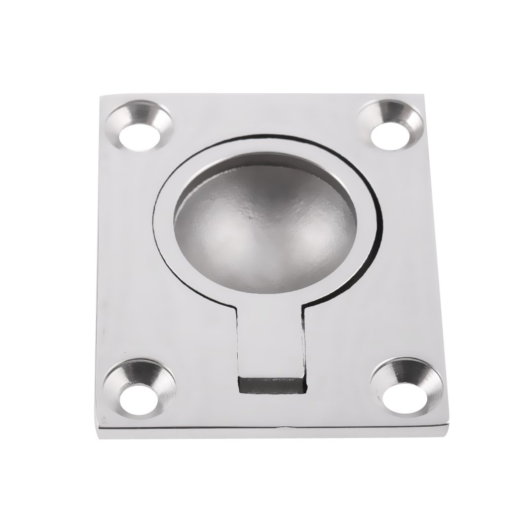 Jili Online 316 Stainless Steel Boat Hatch Latch Cabinet Flush Mount Ring Pull Handle