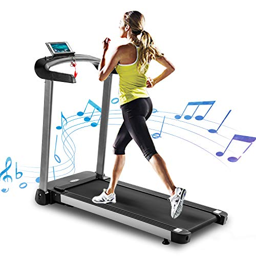 Merax Heavy Duty Treadmill Running Treadmill,Electric Motorized Running Machine with MP3 Player, Low Noise Running Machine for Home,Electric Light Commercial Treadmill