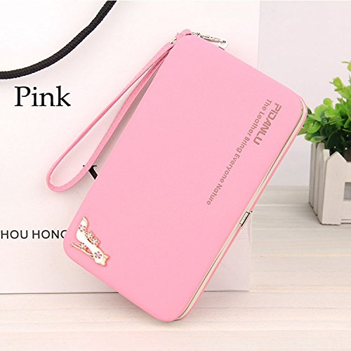 Money coming shop New Fashion Ladies PU Leather Wallets High Quality Women's Bag Famous Band Women Classic Girls Coin Purse Clutch Wallet (Hamper Classic)