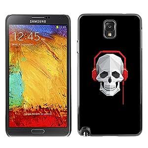 EJOY---Cubierta de la caja de protección la piel dura para el ** Samsung Note 3 N9000 ** --Cráneo Batir Auriculares