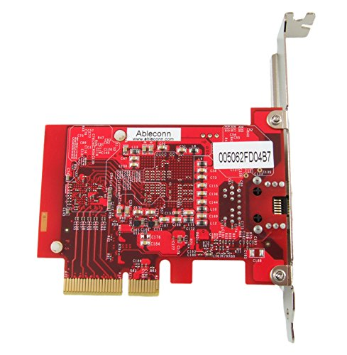 Ableconn PEXNW-103 1-Port 10GBase-T / NBASE-T PCI Express Ethernet Network Card (Tehuti TN4010 + Aquantia AQR105 transceiver) - 5-Speed RJ-45 Low Profile PCIe 2.0 x4 by Ableconn (Image #3)