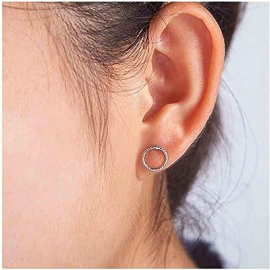 Circle Post Earrings Circle Stud Earrings Geometric Earrings Small Silver Earrings Handmade Jewellery Concave Round Earrings