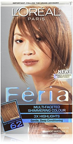 a Multi-Faceted Shimmering Color Light Iridescent Brown, 62 (Loreal Feria Colour)
