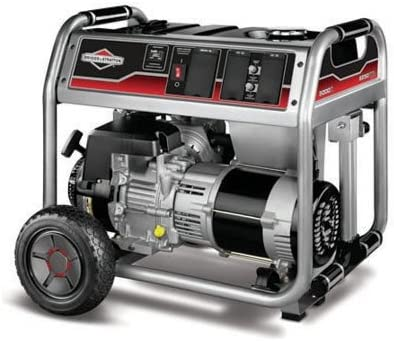 Briggs Stratton Generator with Wheel Kit Discontinued 30467 5,000 Watt 342cc Gas Powered Portable Generato, 5000, Silver Metallic