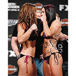 Cat Zingano Signed UFC 8x10 Photo TUF 17 Finale Autograph Picture w/ Miesha Tate - Autographed UFC Photos