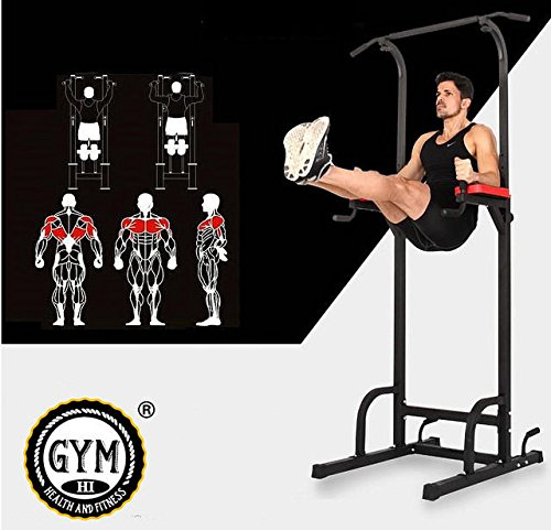 Pro Home Gym Fitness Power Tower Dip AB Klimmzugstange Workout Station