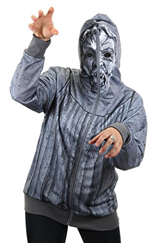 elope Doctor Who Weeping Angel Large Zip Up Hoodie