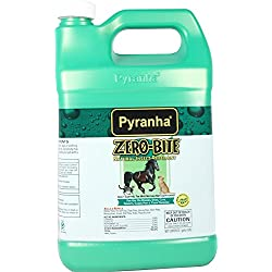 Pyranha 001ZEROG 068263 Zero-Bite Natural Insect Repellent, 1 Gallon; Safe To Use On Horse and Pets; Safe, Non-Toxic Alternative To Traditional Fly Sprays and Wipe; Made with Natural Ingredients