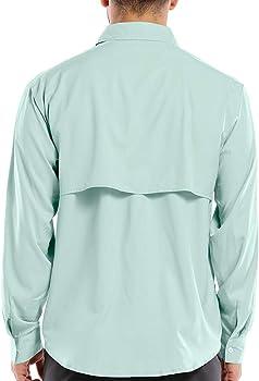 Camisa de Manga Larga UPF para Hombre, protección UV, Senderismo, Pesca, Safari, Secado rápido, frío - Azul - X-Large: Amazon.es: Ropa y accesorios
