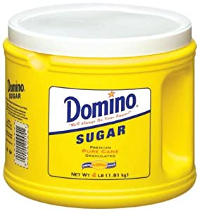 Domino Sugar, Granulated, 64-Ounce Canisters (Pack of 6)