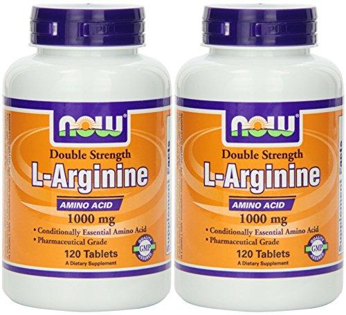 - NOW Foods L-arginine 1000mg, 120 Tablets (2 Pack)