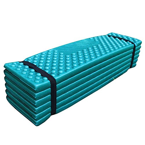 WElinks Outdoor Foldable Hiking Mountaineering Foam Mat Camping Picnic Sleeping Pad Waterproof Dampproof Tent Rest Mattress Pad PVC Portable Folding Cushion Seat Pads for Outdoor Sports Activities