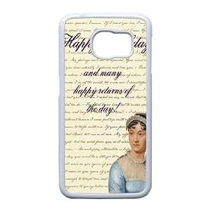 Samsung Galaxy S6 Edge Phone Case White Austen Happy ZEC885429