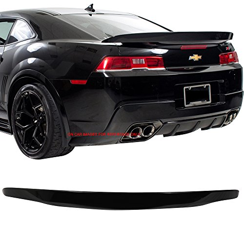 (Pre-painted Trunk Spoiler Fits 2014-2015 Chevy Camaro | OE Factory Style Painted #WA122V Berlin Blue Metallic Trunk Spoiler Rear Wing Tail Roof Top Lid Other Color Available by IKON MOTORSPORTS)