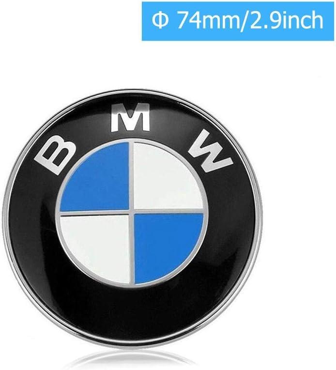 74mm BMW Emblems Hood and Trunk BMW Emblem Logo Replacement 74mm for ALL Models BMW E30 E36 E46 E34 E39 E60 E65 E38 X3 X5 X6 3 4 5 6 7 8