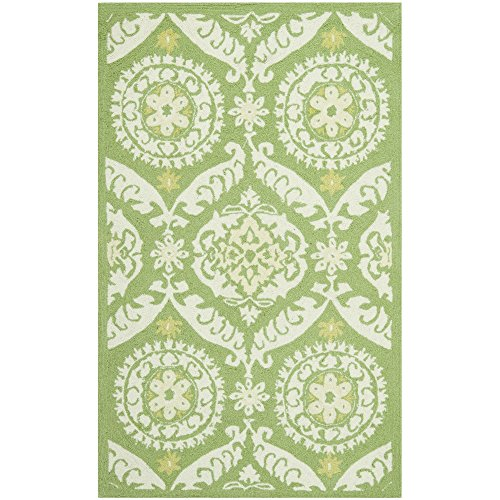 """UPC 683726853855, Safavieh Chelsea Collection HK356B Hand-Hooked Green and Beige Premium Wool Area Rug (3'9"""" x 5'9"""")"""