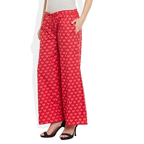 ShalinIndia - Pantalón - para mujer Red PINK