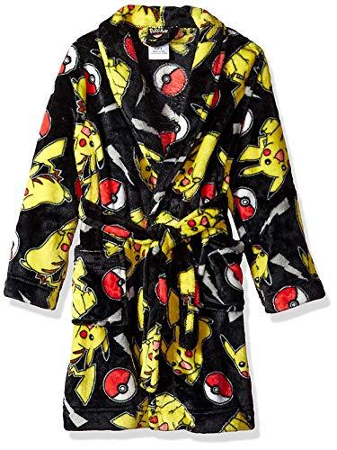 Pokemon Little Boys' Robe, Battleground Black, 6