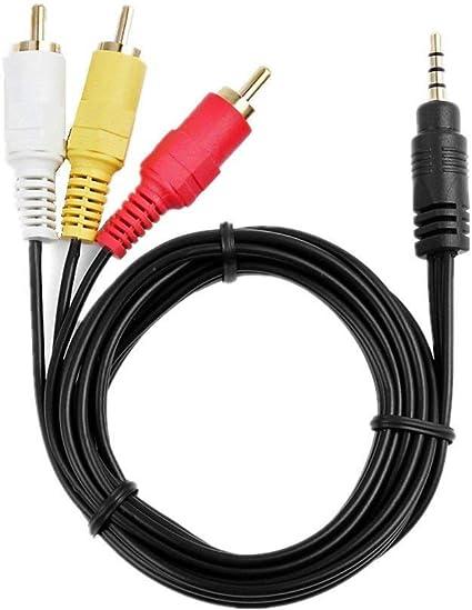 AV A//V TV Cable//Cord//Lead For Canon Vixia ZR20 ZR30 MC ZR900