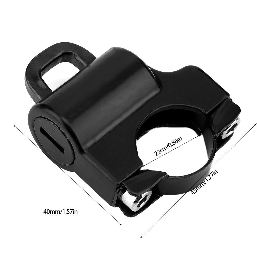KIMISS 22mm Handlebar Motorcycle Helmet Lock Electroplating Universal Motorcycle Helmet Security Lock Padlock with 2 Keys Universal Helmet Lock