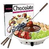 Chocolate Fondue Maker - 110V Electric Chocolate Melting Pot Set with...
